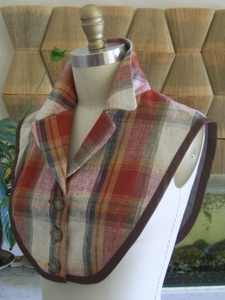 Tartan neck piece side