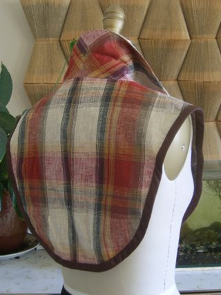 Tartan neck piece back