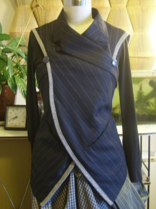 Navy stripe tunic front