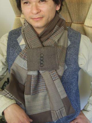 Ed in beige scarfe