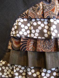 Peacock skirt detail